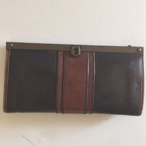 Fossil leather wallet vintage look